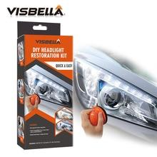 цена на Visbella Headlight Restoration System Repair Kit DIY Headlamp Brightener Car Care Repair kit Lamp Light Clean Polish by manual