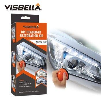 Visbella, Kit de reparación de faros, kit de reparación de Faro de bricolaje, abrillantador, Kit de reparación de cuidado de coche, luz de lámpara, pulido de limpieza manual