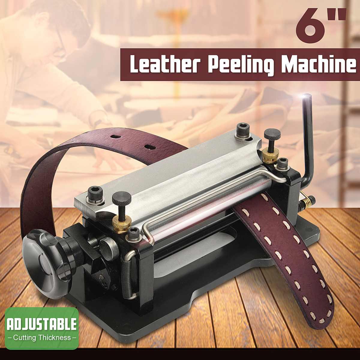Acier inoxydable 6 bricolage en cuir Skiver éplucheur séparateur pelle peau dérapage Paring éplucheuse Machine 30*12.5*10.5 cm