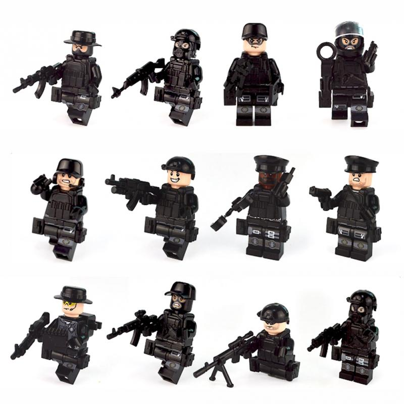 Guns Model-Toys Figures Building-Blocks Soldiers Special-Forces Military Team Bricks