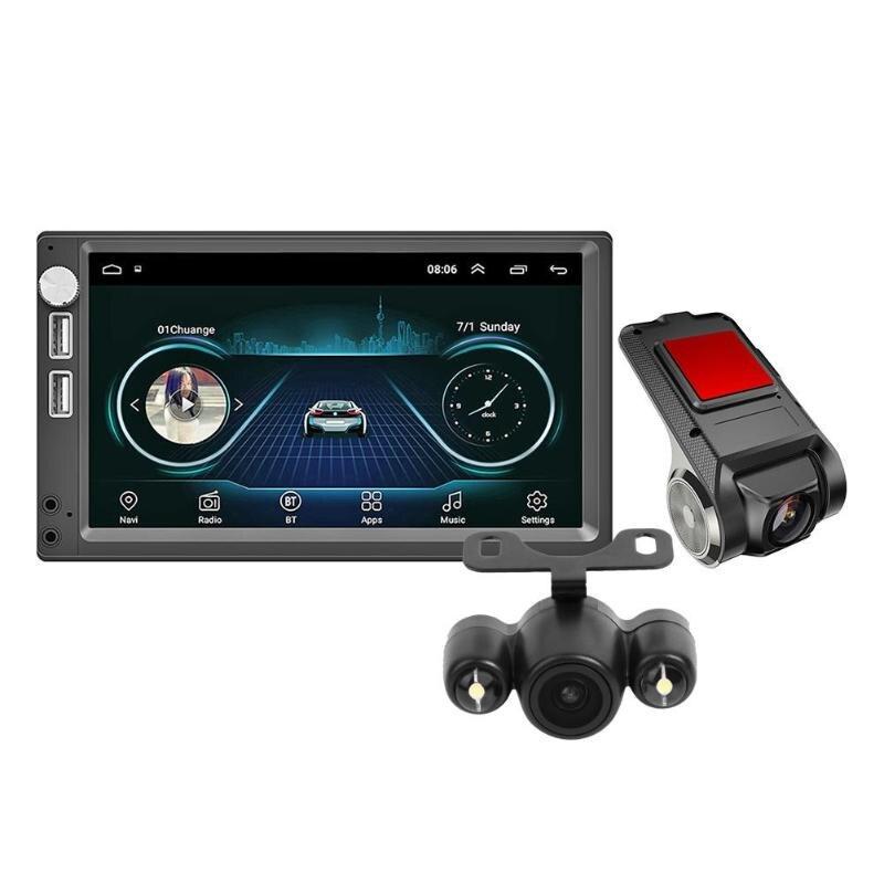 VODOOL A5 7 pouces voiture stéréo MP5 lecteur caméra de recul + Anytek X28 1080P voiture DVR écran tactile système Android Dash Cam Dashcam