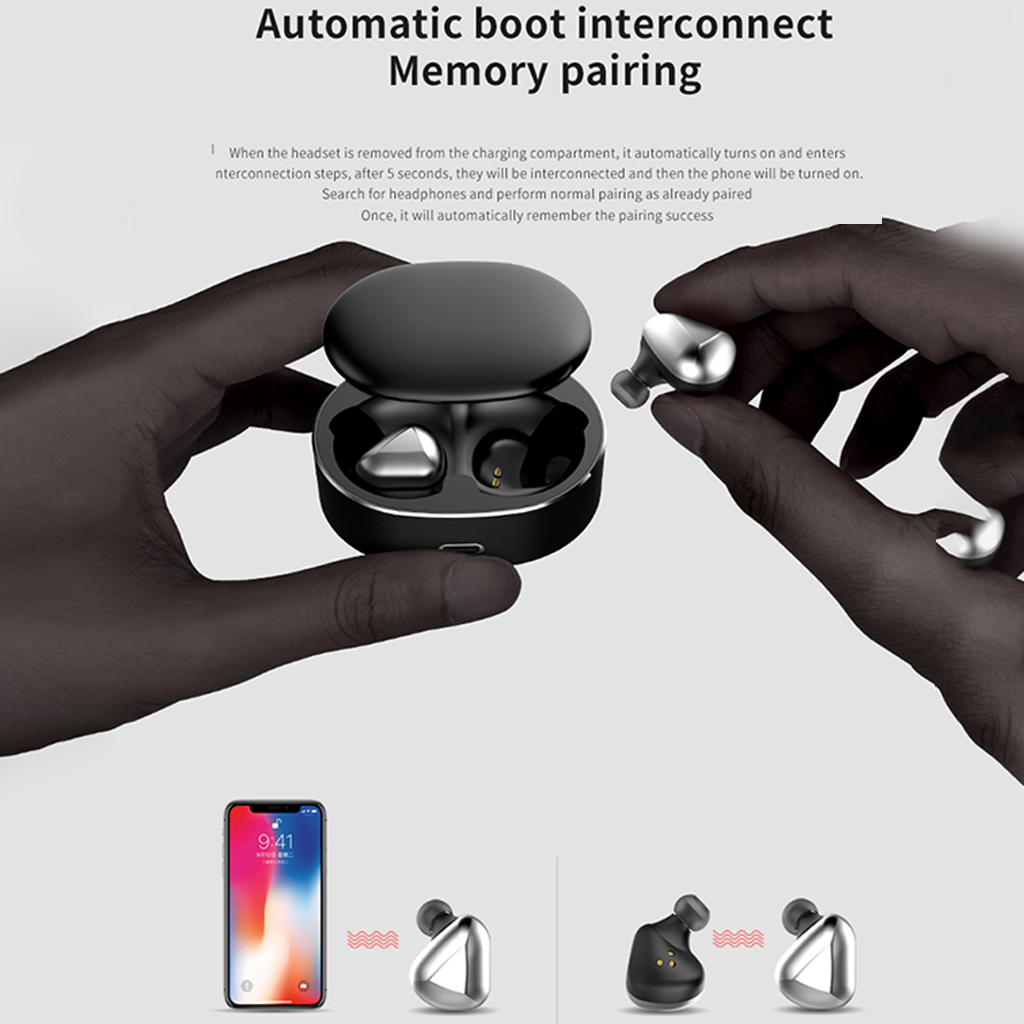 T50 TWS Wireless Earphones Bluetooth 5 0 Mini Headset 20 Meters Signal Automatic Pairing Handsfree 3D Stereo Earbuds in Bluetooth Earphones Headphones from Consumer Electronics