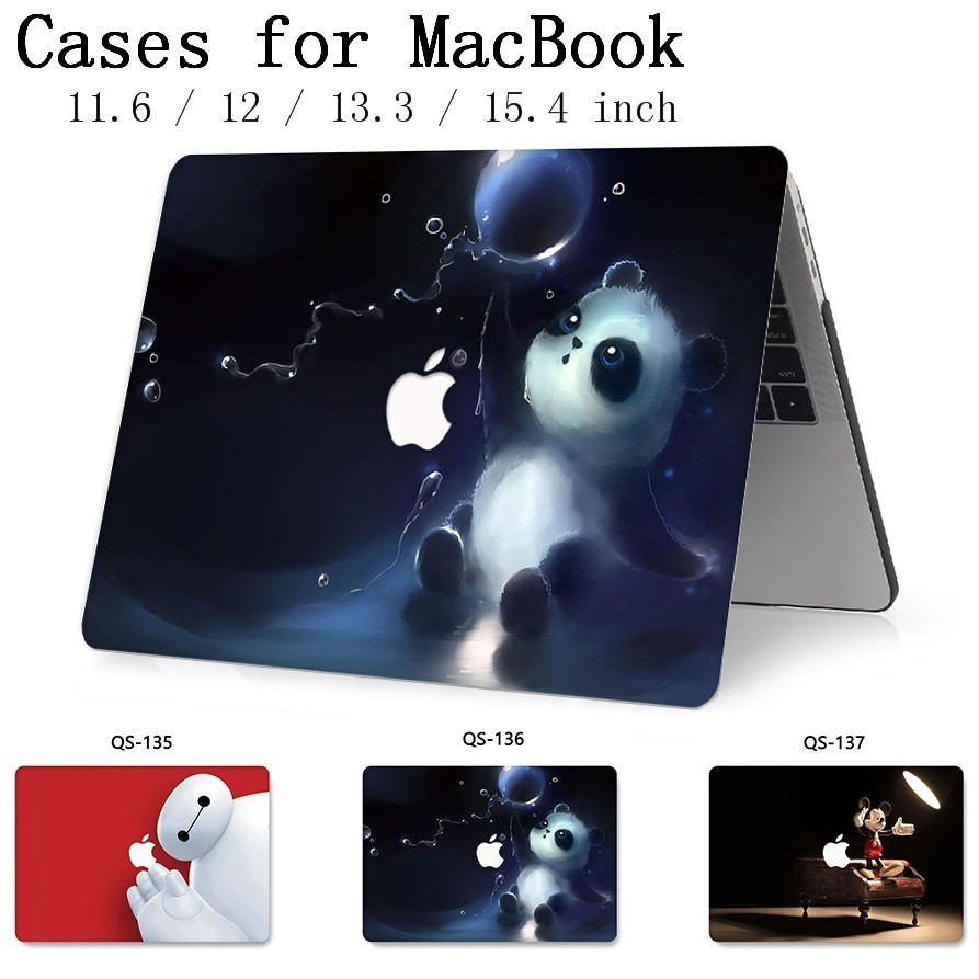 For Notebook MacBook Case For MacBook Air Pro Retina 11 12 13.3 15.4 Inch For Laptop Sleeve With Screen Protector Keyboard Cove-in Laptop Bags & Cases from Computer & Office