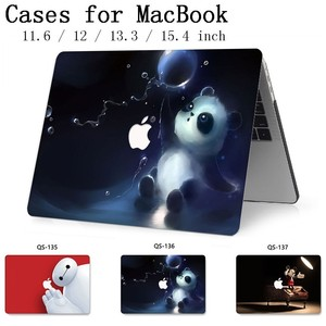 Image 1 - For Notebook MacBook Case For MacBook Air Pro Retina 11 12 13.3 15.4 Inch For Laptop Sleeve With Screen Protector Keyboard Cove