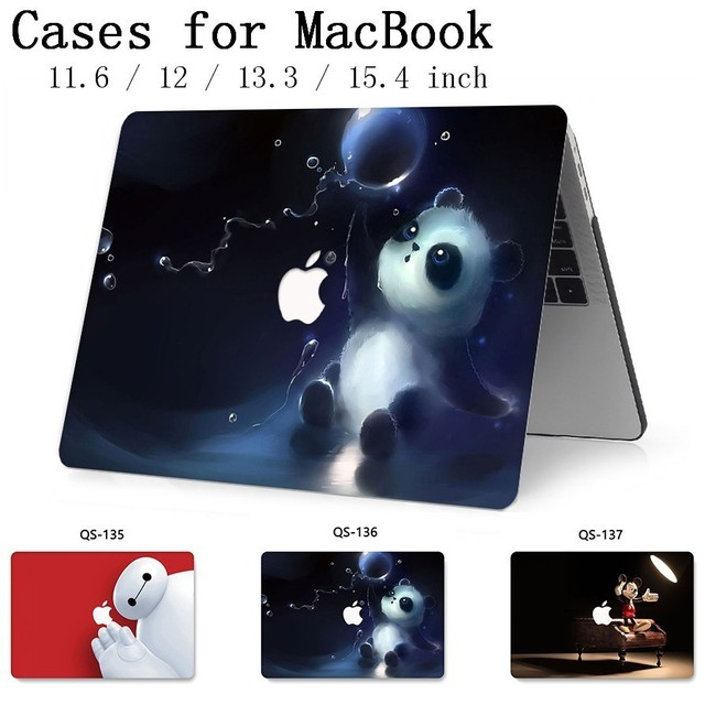 For Notebook MacBook Case For MacBook Air Pro Retina 11 12 13.3 15.4 Inch For Laptop Sleeve With Screen Protector Keyboard Cove