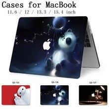 Para MacBook Notebook Case Para MacBook Air Pro Retina 11 12 13.3 15.4 Polegada Para Laptop Manga Com Protetor de Tela teclado Enseada