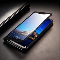 for Huawei Honor 8X Case 8X Max Full View Window PU Leather Flip Cover Funda Case for Huawei Honor 8X/8x Max protective case|Flip Cases| |  -