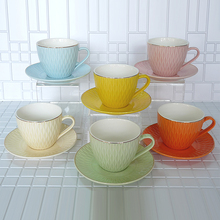 Dinnerware porcelain set for 6 High quality bone china coffee cup solid color multi-color of 12 pieces Exquisite gift bo