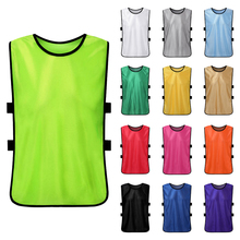 682aadcb1ae4 12 PCS Children Team Sports Vest Kid Quick Drying Football Soccer Pinnies  Jerseys Youth Basketball Jersey Practice Training Bibs