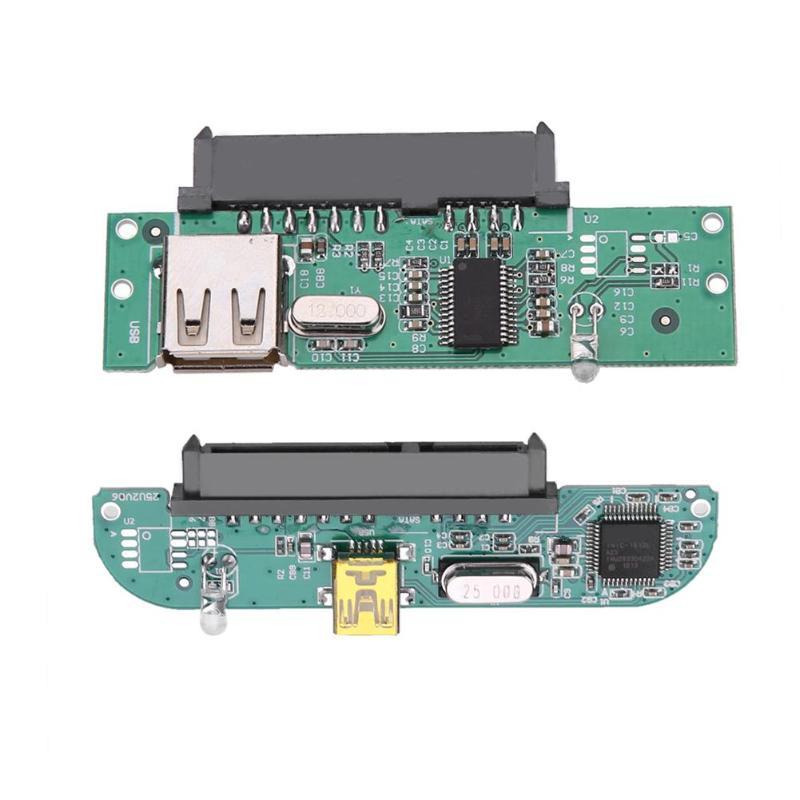 Hard Disk Adapter 2.5'' USB 2.0 TO SATA 7 + 15 Pin Converter For 2.5