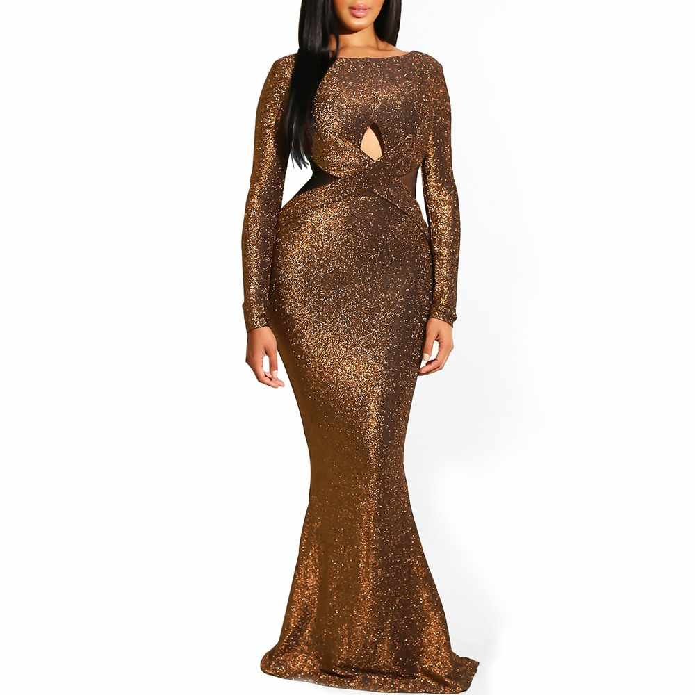 Clocolor элегантный блесток Зеленый спинки Дамы Отвесные вечерние Модные женские Русалка облегающие вечерние Клубные длинные пикантное обтягивающее платье