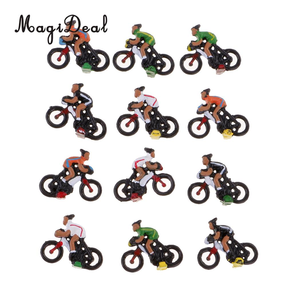 Delicious Magideal 12pcs/lot Miniature 1/87 Ho Model Landscape Cyclist Diy Landscape Sand Table Layout For Collectables Child Funny Toy Fragrant Aroma Toys & Hobbies