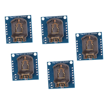 5PCS For Arduino I2C RTC DS1307 AT24C32 Real Time Clock Module For AVR ARM PIC SMD Board