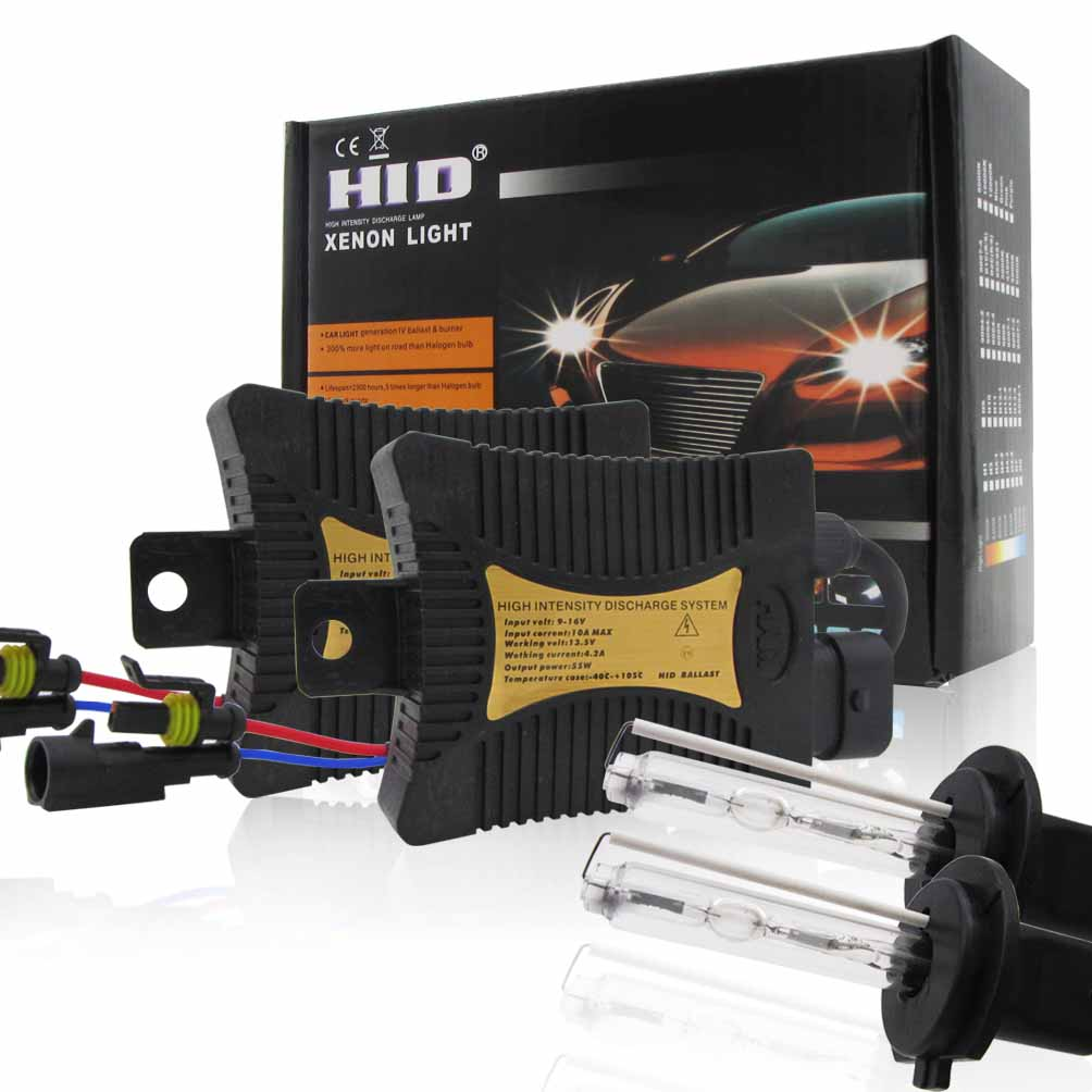2pcs Car H7 00000 HID Headlight Light Bulb Ballast 6000K/8000K/10000K/12000K Conversion Kit 55W Auto 00000 Headlight 9~16V