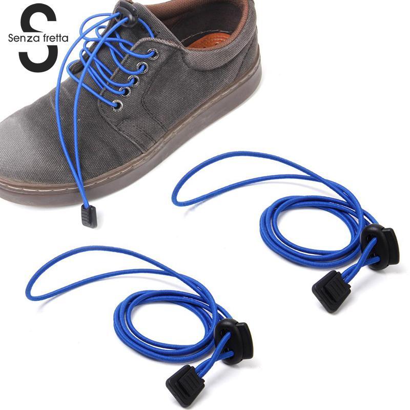 Senza Fretta 1pairs Magnetic Shoelace Laces Fashion No Tie Elastic Sneaker Shoelaces Sport