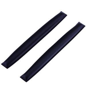 Image 1 - 2pcs אוזניות החלפת סרט אוזניות כרית מקרה כרית בר עבור Sennheiser HD25 PC150 PC151 PC155 רך דמוי עור שחור