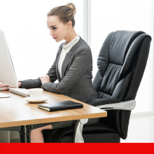 Comfortable household office computer chair lying boss chair capable of lifting rotating chair (Without pedal) luxurious and comfortable office chair at the boss computer chair flat multifunction chair capable of rotating and lifting