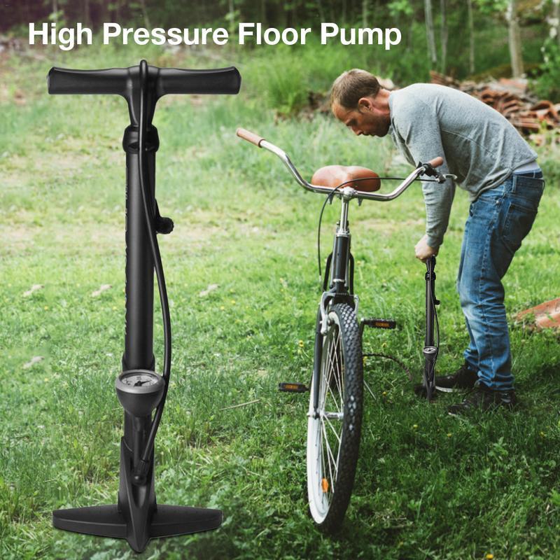 Pompe à vélo pour Schrader Valve Presta équipement d'équitation