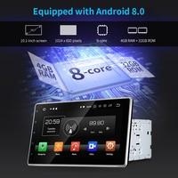 2 Din 8 Core Car Radio 1024 X 600 4GB/32GB 10inch Autoradio GPS Android 8.0 Wifi Central Multimidia For Toyota MirrorLink 3G 4G