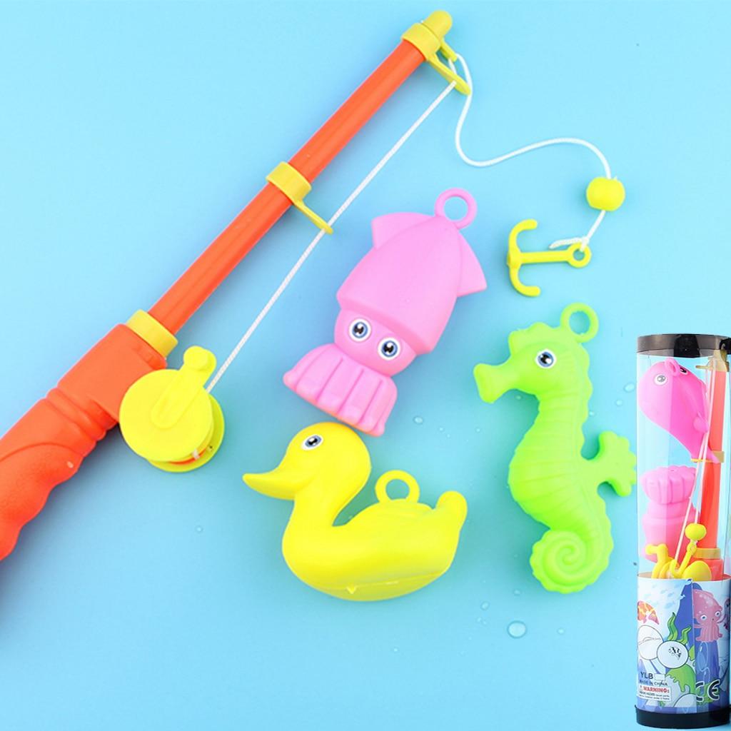 GüNstiger Verkauf Kinder Baby Cartoon Angeln Spiele Fische Stange Pretend Spielen Frühen Lernen Bad Pool Indoor Outdoor Spielzeug Kreative Aktivität Attraktives Aussehen