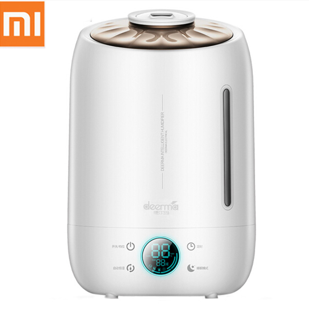 Xiaomi Deerma Ultrasonic Air Humidifier 5L Quiet Aroma Mist Maker LED Touch Screen Timing Function Home Water Diffuser DEM F500