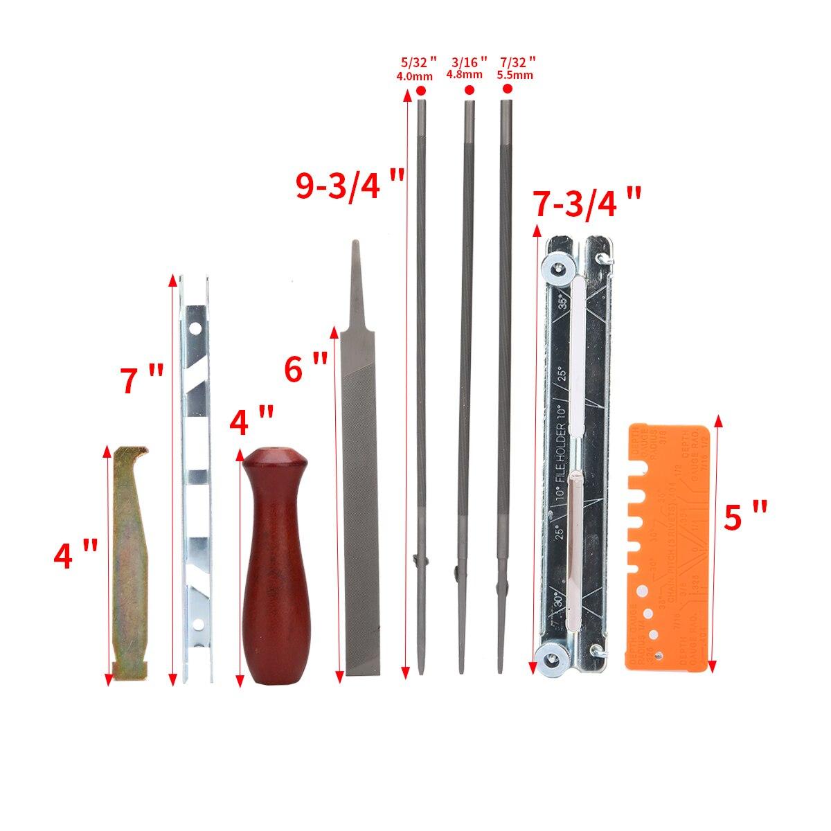 10 шт., практичный набор для ЗАТОЧКИ ЦЕПНОЙ ПИЛЫ, набор инструментов, направляющий стержень, точилка для файлов, инструменты для шитья, рукоделие, инструмент для тиснения