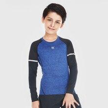 Willarde мальчика быстросохнущая сжатия рубашки для мальчиков Бег Баскетбол футбольная спортивная одежда Дети Открытый Обучение Спортивная одежда Топы