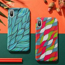 цена на KISSCASE Colorful Vintage Woven Pattern Case For iPhone X XS Max XR 6 7 8 Wavy Phone Case For iPhone 6 6S 7 8 Plus Hard PC Cover