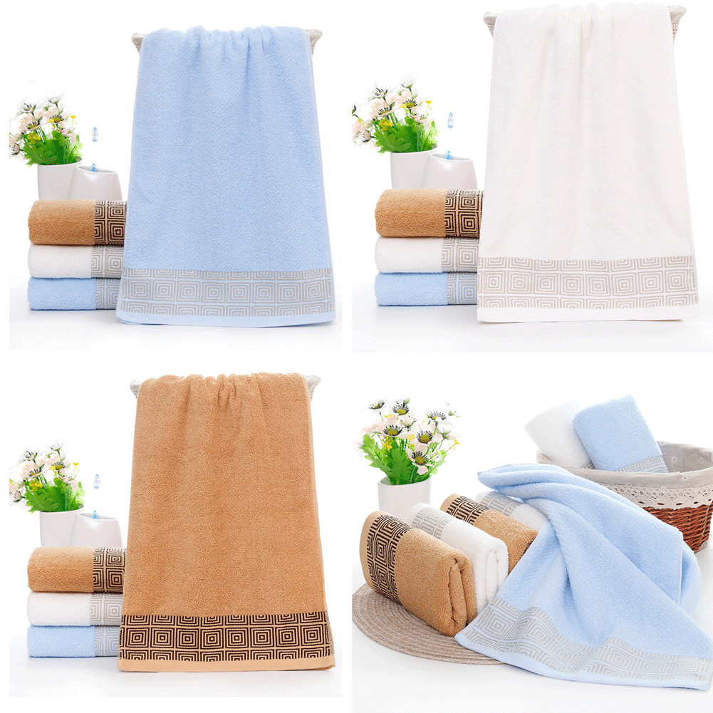 Super Soft Towel Sets Cotton Striped Face Dry Hair Bath Towel Hand Towel Dry Quick Adapt Microfiber Absorbent Towel