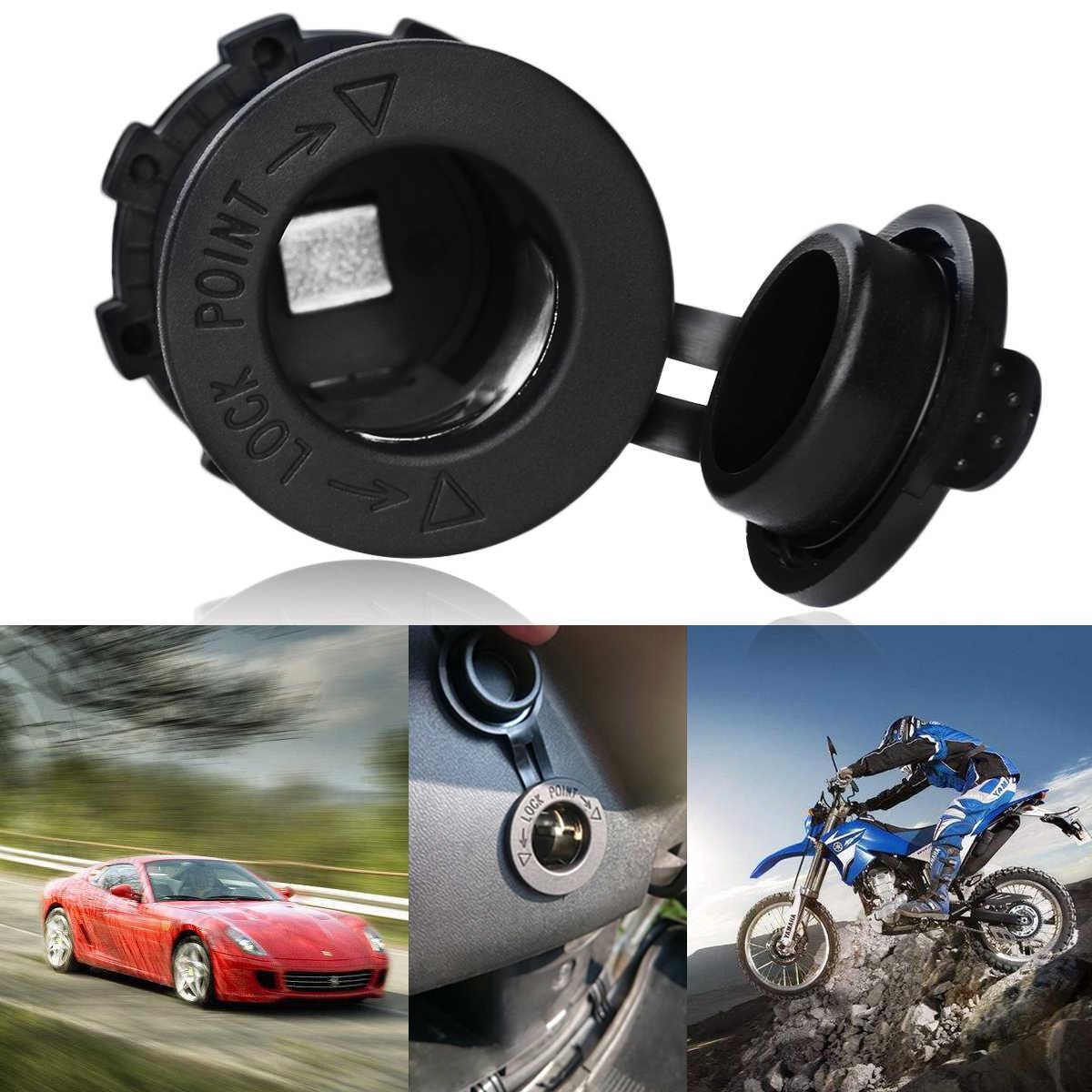 1pc Universal Car Motorbike Cigarette Lighter Power Supply Socket Outlet Adapter Plug 12V-24V Waterproof Marine Boat (Black)