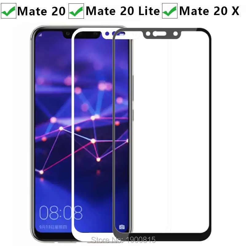 保護 Huawei 社のメイト 20 Lite × 強化 Glas スクリーンプロテクターケースに Huawey Mate20 20 lite 20x メイドマットフィルムカバー