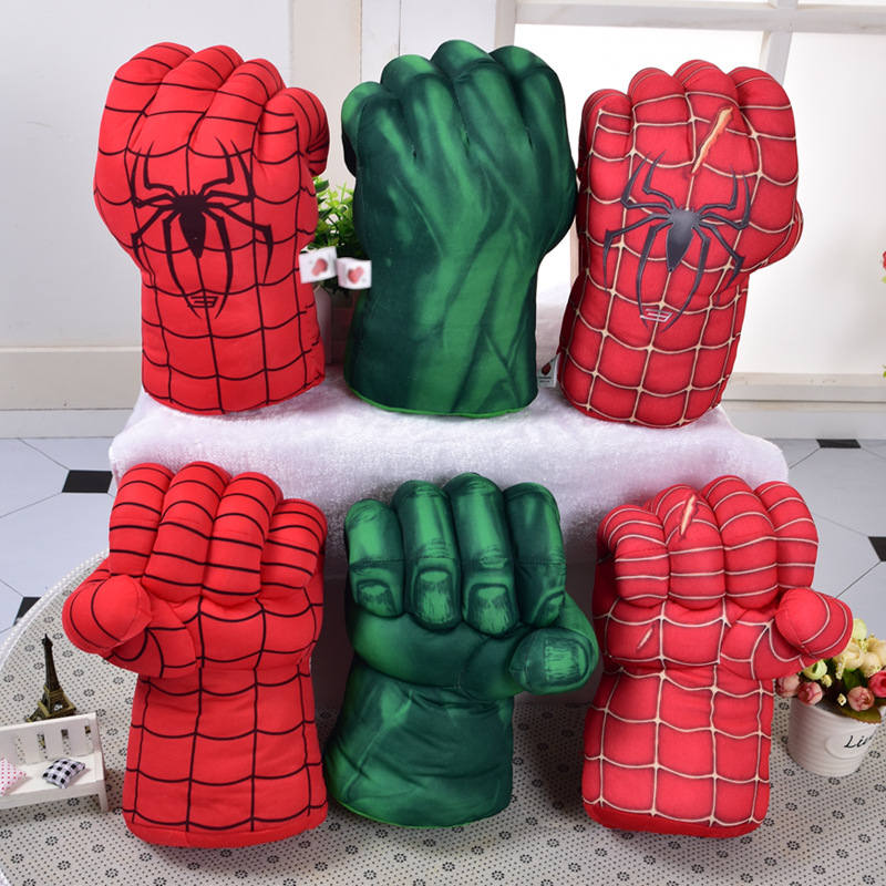Marvel Spider Man Boxing Gloves Toy Doll The Hulk Avengers Incredible Superhero Figure Iron Man Boxing Gloves Children Boy Gifts image