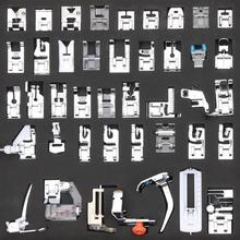 42 قطعة متعددة الوظائف ماكينة خياطة قطعة قدم الضغط في ماكينة الخياطة قدم Brother المغني Janome الضغط قدم تجديل أعمى الخياطة اكسسوارات