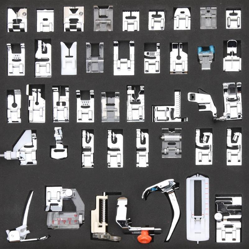 42pcs Multi-functional Sewing Machine Presser Foot Feet for Brother Singer Janome Presser Feet Braiding Blind Stitch Accessories