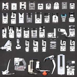 Image 1 - 42pcs Multifunctional Sewing Machine Presser Foot Feet for Brother Singer Janome Presser Feet Braiding Blind Sewing Accessories