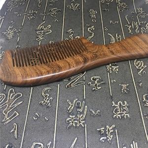 Image 3 - خشبي صالون الخصر العطر مكافحة ساكنة طويلة واسعة الأسنان detanghome الطبيعية خشب الصندل مشط تدليك أدوات الشعر النساء