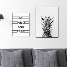 Nordic Pineapple Painting Poster Canvas Art Cuadros Decoracion Posters And Prints Wall Pictures for Living Room Salon Unframed цена и фото