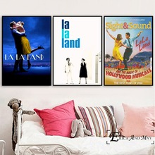 La Land Music Movie Artwork Poster Prints Oil Painting On Canvas Wall Art Murals Pictures For Bedroom Decoration No Framed