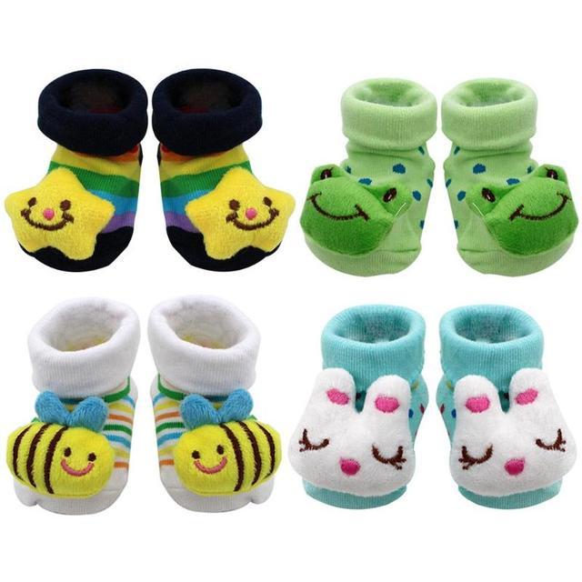 Baby socks rubber anti slip floor cartoon kids Toddlers autumn spring Fashion Animal newborn Cute 0-6-12month