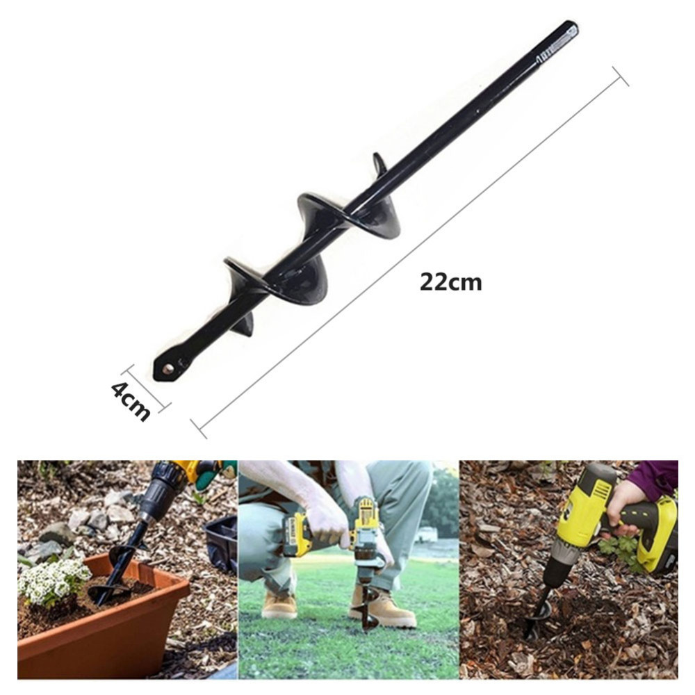 4*22cm Garden Auger Spiral Drill Bit