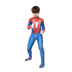 Image 3 - Kids Marvel Comic Fantasy Superhero Classic Ps4 Insomniac Games Spider boy Carnival Party Zentai Suit Halloween Cosplay Costume