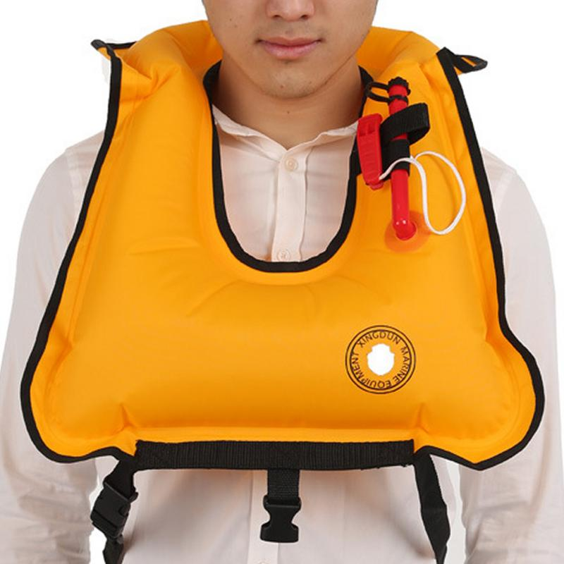 Swimming Life Jacket Adult Inflatable Swim Vest Life Jacket Snorkeling Floating Surfing Water Sports Life Saving Jacket Lifevest