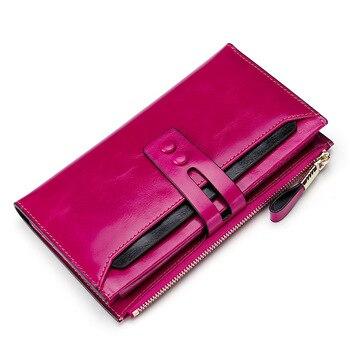 63cda2fc4220 Модные женские туфли женские кошельки пояса из натуральной кожи женский с  карманом для телефона дамы кошелек Hasp женский кошелек, бумажник к.