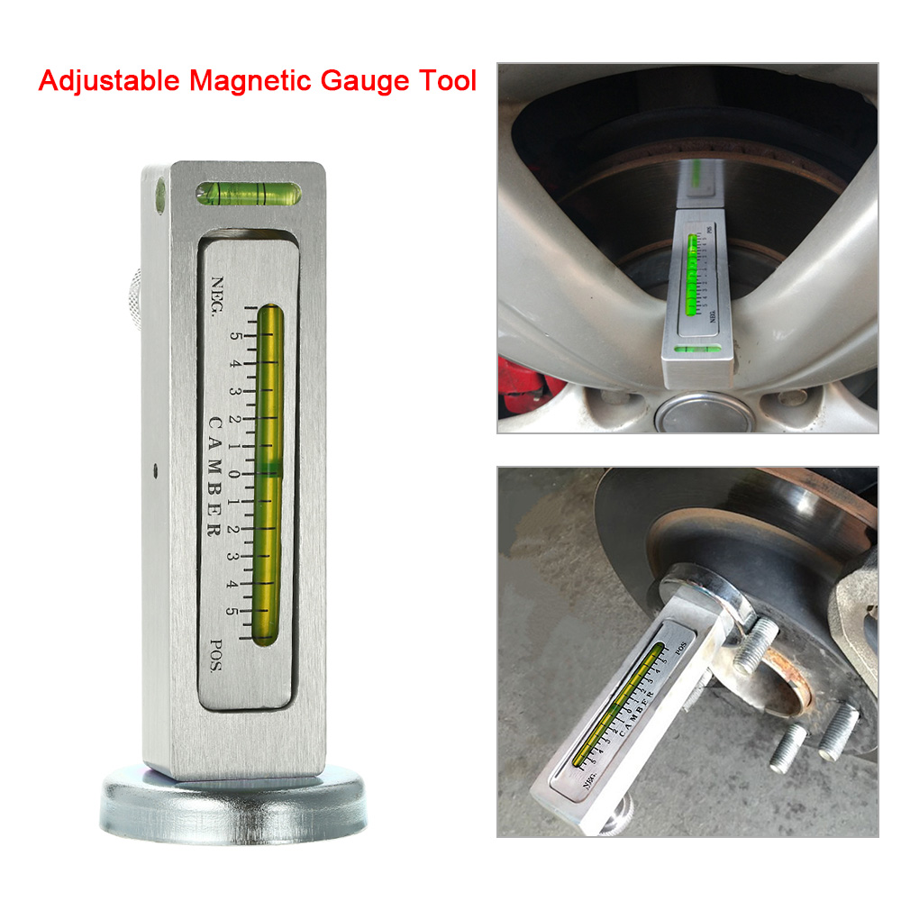 Aadjustable Magnetic Camber Castor Strut Wheel Alignment Gauge Tool For Universal Tire Repair Tools For Cars Truck SUV