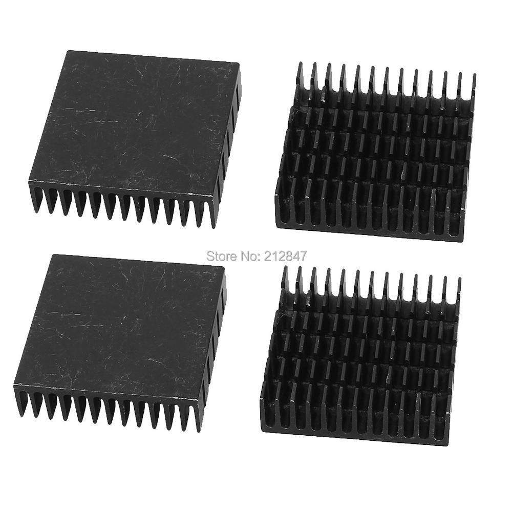 10pcs 28 x 28 x 6mm Heat Sink Cooling Aluminum Heatsink CPU IC LED
