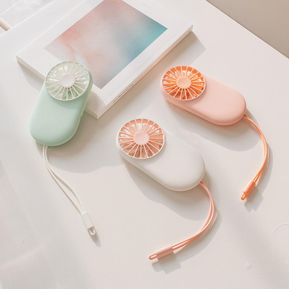 Modestil Adoolla Tragbare Handheld Mini Dünne Usb Aufladbare Tasche Fan Mit Hängenden Seil Fans Haushaltsgeräte