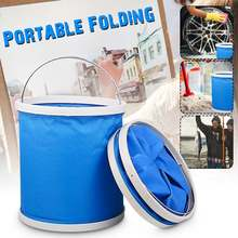 11 Liter Bucket Portable Bucket Collapsible Multifunctional Folding Outdoor Bucket Basin for Camping Hiking Travelling Fishing