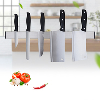 Stainless Steel Magnetic Wall Knife Holder S/M/L Knife Rest Stand Bar Storage Block Rack Hook Kitchen Accessories Organizer 3