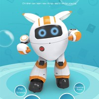 JJRC R14 Round Robot Intelligent Remote Control Support Voice Playing Music Telling Stories LED Light Walk Slide Movement Robots