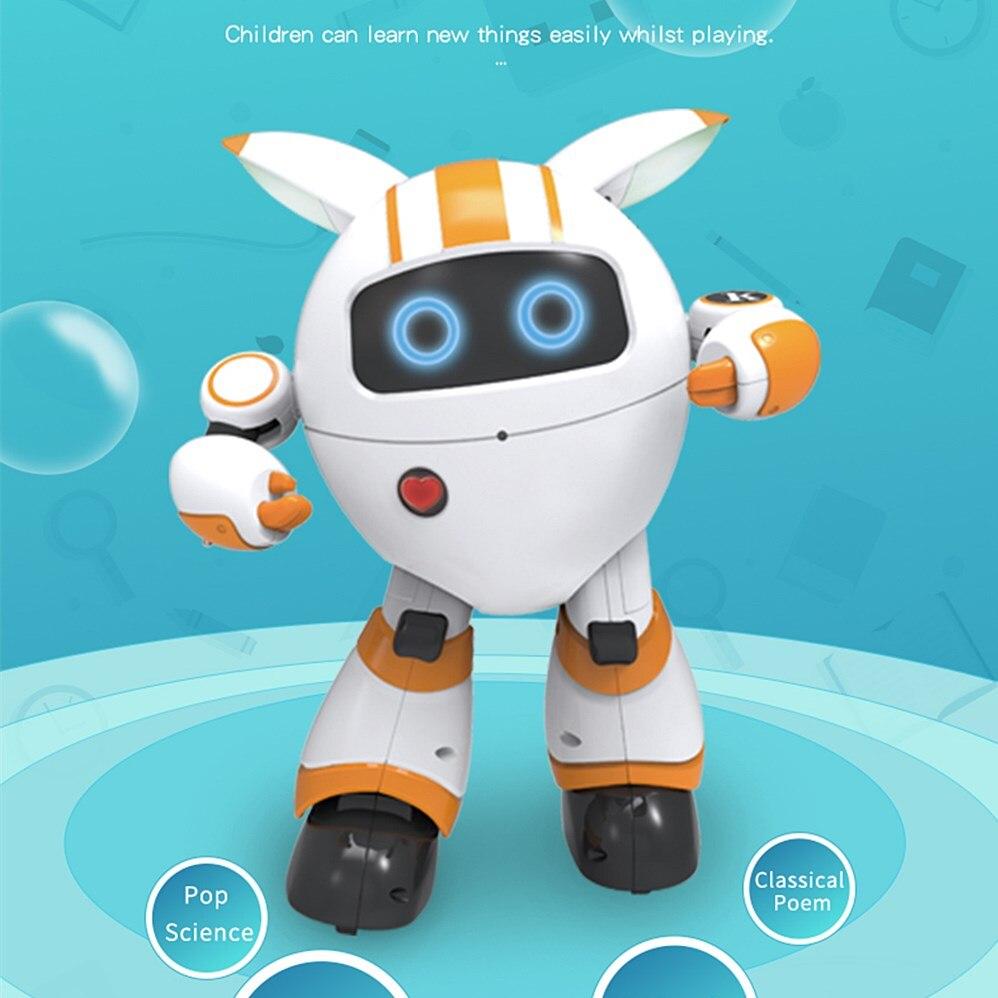 JJRC R14 Robot rond Intelligent télécommande Support voix jouant de la musique racontant des histoires lumière LED marche glisser mouvement Robots